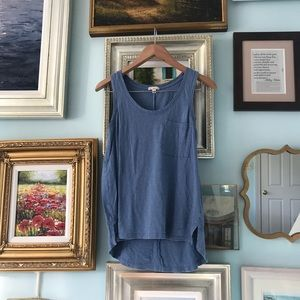 Gap blue tunic tank top